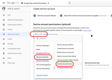 Allow Speakap to publish and manage your Android White-Label